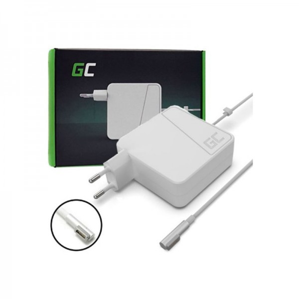 GREENCELL-60W-600x600 Apple MagSafe (1a Gen) 60W alimentatore caricabatterie compatibile (Nuovo)